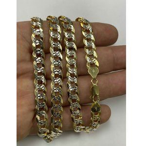 Harlembling Diamond Cut Cuban Link Chain Necklace